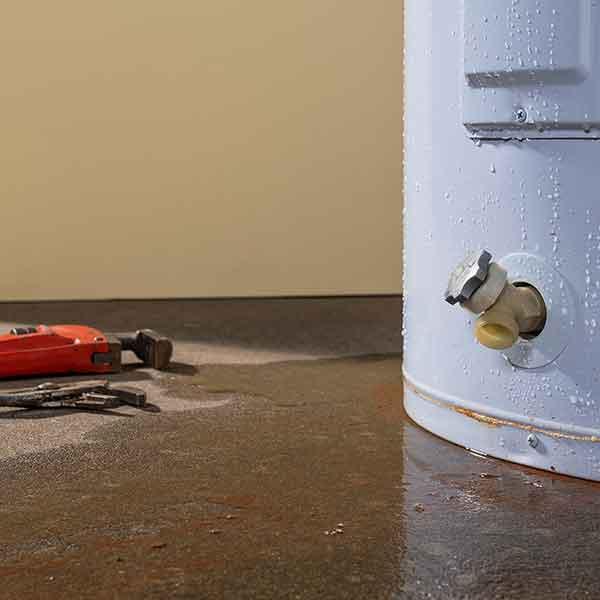hot water tank water damage restoration in Louisville